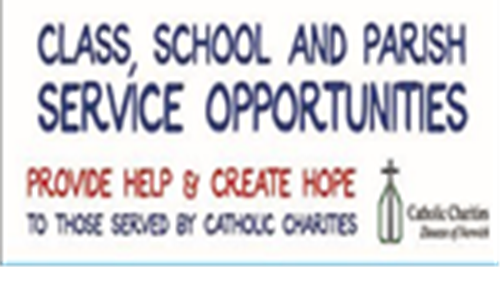 Class, School and Parish Service Opportunities Available!
