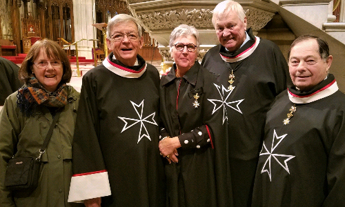 Catholic Charities' Board Member Dr. Christopher Lipinski Invested into the Order of Malta